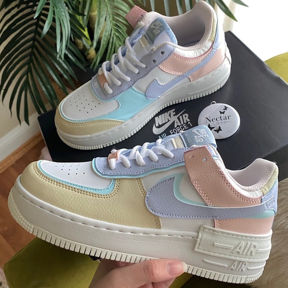 Nike Shoes Nike Air Force Shadow Pastel Glacier Poshmark Summit whiteglacier bluefossilghost geslacht : poshmark